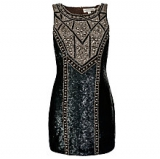 John Lewis - Needle & Thread Studded Contour Dress, Black