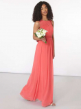Dorothy Perkins - Showcase Coral 'Natalie' Maxi Dress in Coral