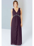 Dorothy Perkins - Little Mistress Purple Drape Maxi Dress