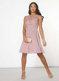 Dorothy Perkins - Showcase Josie Pink Lace Prom Dress