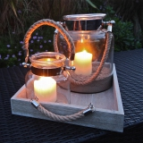 Not On The High Street .com - Salcombe Rope Handled Hurricane Lamp