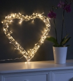 Not On The High Street .com - Fairy Light Heart Wreath