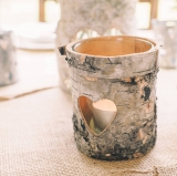 Not On The High Street .com - Three Wooden Bark Tea Light Holders