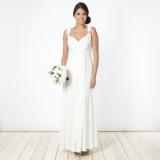 Debenhams - Debut Ivory pleated jersey maxi dress