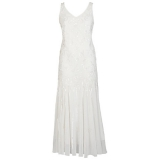 John Lewis - Chesca Beaded Flapper Dress, Ivory