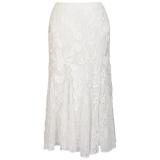 John Lewis - Chesca Cornelli Lace Skirt, Ivory