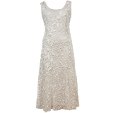 John Lewis - Chesca Lace Cornelli Embroidered Dress , Ivory