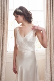 Not On The High Street .com - Ava - Satin & Lace Gown by LISA WAGNER DESIGNS