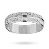 Goldsmiths - 5mm ladies double row sparkling wedding band
