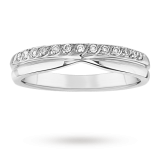 Goldsmiths - Ladies 0.10 total carat diamond wedding ring