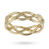 Goldsmiths - 5mm celtic ladies wedding ring