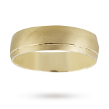 Goldsmiths - 6mm matt and polished gents wedding ring