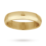 Goldsmiths - 5mm gents heavy court wedding ring
