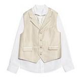 Debenhams - Bluezoo - Boy's taupe striped waistcoat set