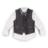 Debenhams - Bluezoo - Boy's black and grey pinstripe waistcoat