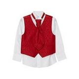 Debenhams - Bluezoo - Boy's red waistcoat, shirt and cravat