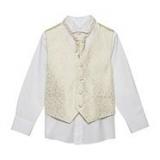 Debenhams - Bluezoo - Boy's gold waistcoat, shirt and cravat