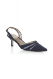 Jacques Vert - Navy Slingback Shoes