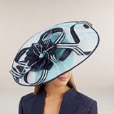 Jacques Vert - Saucer Hat with Feather and Loop Detail