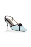 Jacques Vert - Pale Blue and Navy Shoe