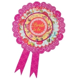 Party Pieces - Bride To Be Rosette