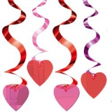 Party Pieces - Hearts Spiral Hanging Party Decoration