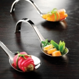 Party Pieces - Metalized Appetizer Curly Spoon