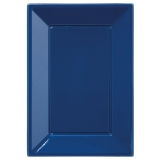 Party Pieces - Plastic Serving Trays Dark Blue