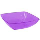 Party Pieces - Aubergine Square Plastic Party Salad Bowl