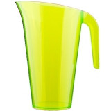 Party Pieces - Green Coloured Plastic Party Jug