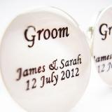 Not On The High Street.com - Personalised 'Groom' Wedding Cufflinks