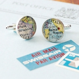 Not On The High Street.com - Personalised Location Map Cufflinks