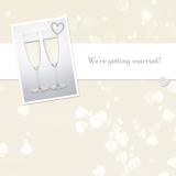 Marks and Spencer - Champagne Flute Announcement Card