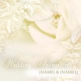 Marks and Spencer - White Rose Wedding Invitation