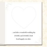 Marks and Spencer - Heart Wedding Thank You Card