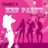 Marks and Spencer - Music Hen Party Invitation