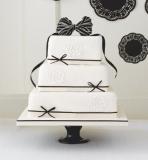 Marks and Spencer - Black & Ivory Fruit Wedding Cake
