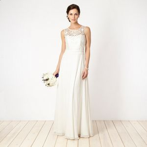 Debenhams Cream Cut Out Wedding Dress