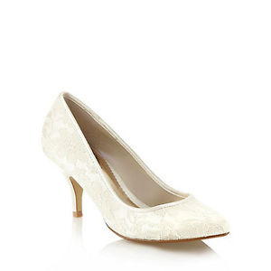 Debenhams Ivory Lace Shoe