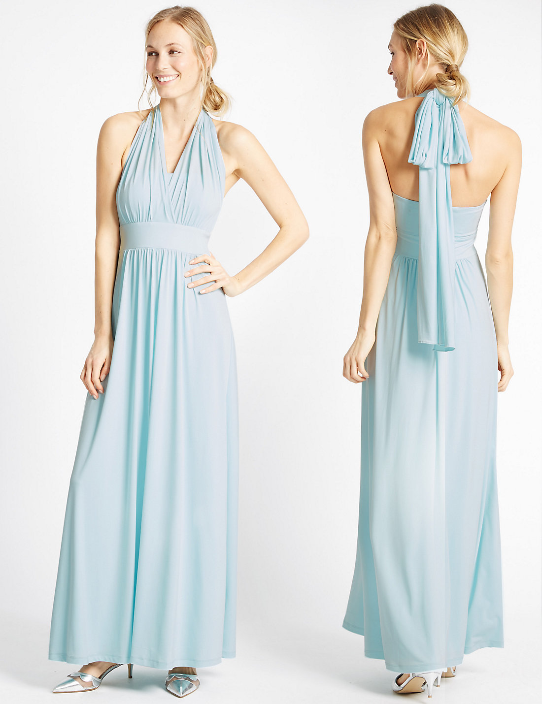 Marks and Spencer Blue Multiway Strap Maxi Dress