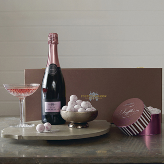 Fortnum and Mason Rose Champagne and Truffles Box