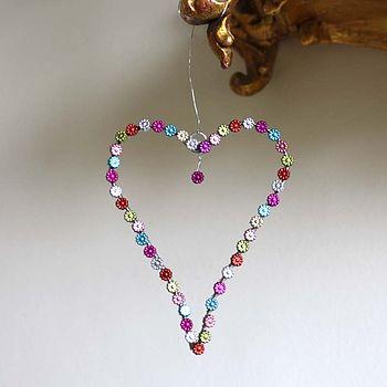 Notonthehighstreet.com Button Hanging Heart
