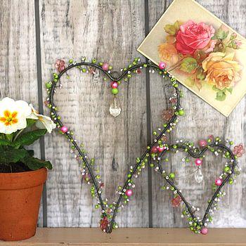 Beaded Decorative Hearts