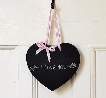 Wedding Chalkboard Hanging Heart