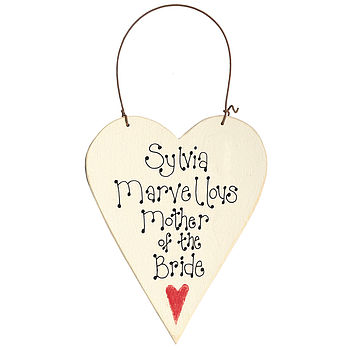 Mother of the Bride Hanging Heart