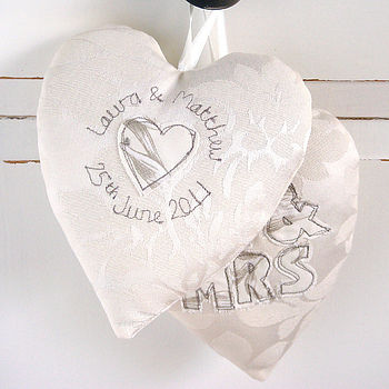 Personalised Hanging Hearts Cushions